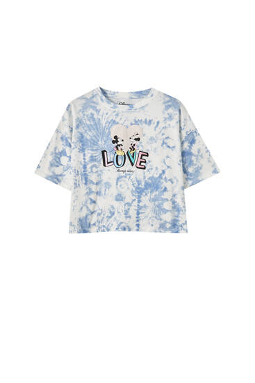 T-shirt do Mickey Mouse com tie-dye
