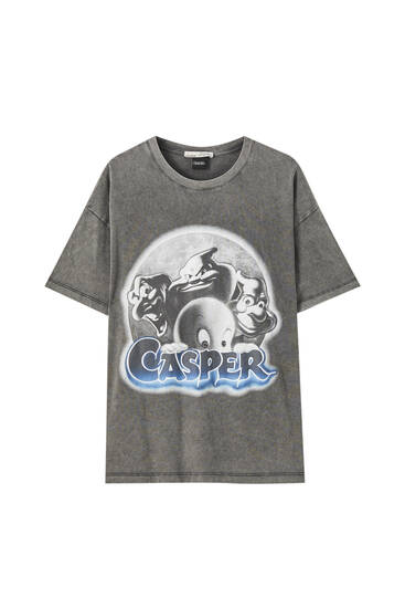 Faded black Casper T-shirt