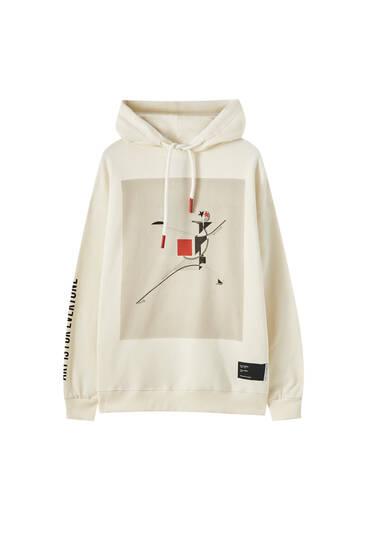 Tate Art Collection Lissitzky görselli kapüşonlu sweatshirt