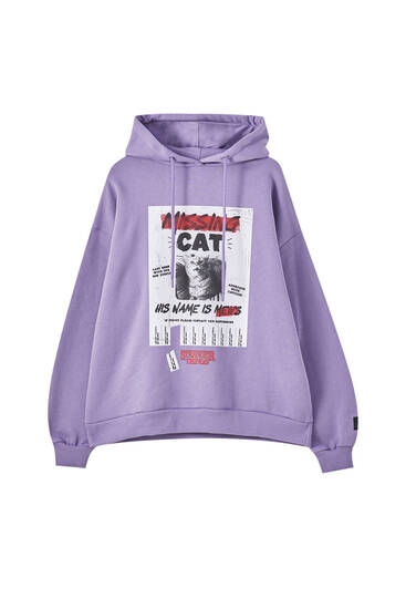 Stranger Things Missing Cat sweatshirt