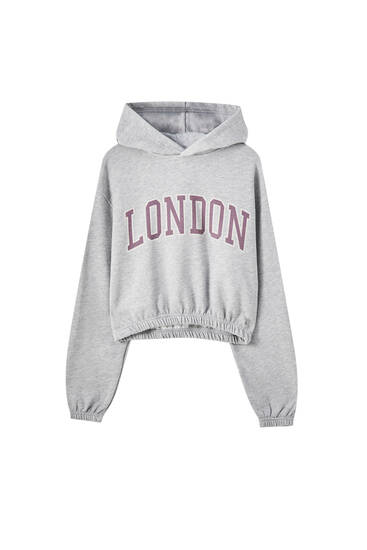 Grijze London sweater