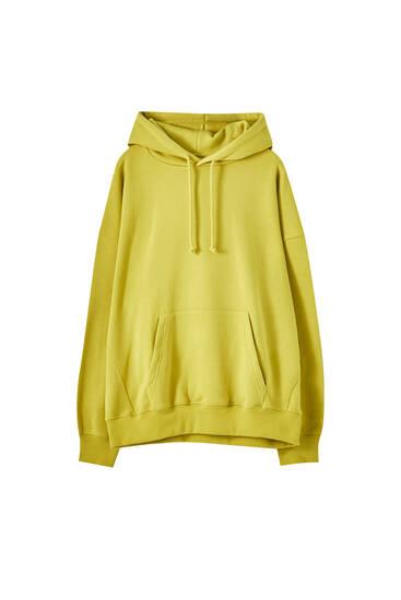 Contrast oversize hoodie