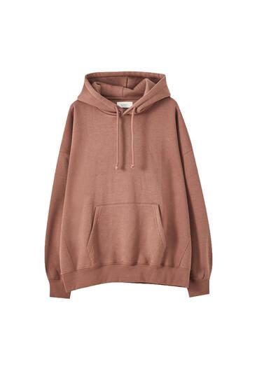 Oversize-Sweatshirt mit Bauchtasche
