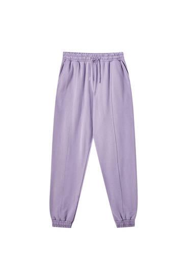 Kalhoty jogger selastickými lemy