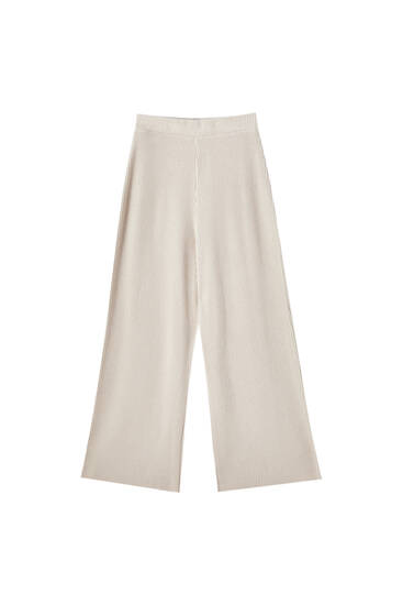 Žebrované kalhoty culottes
