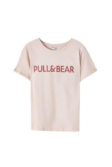 T-shirt basique couleurs logo contrastant