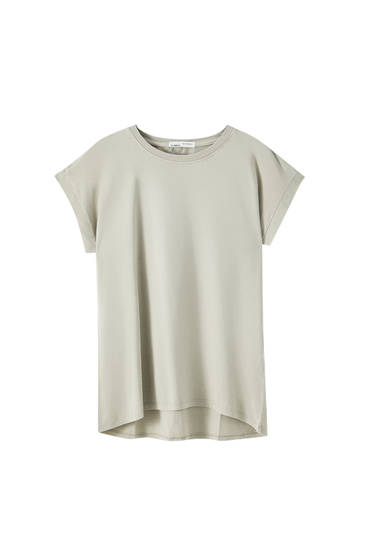 Basic cotton round neck T-shirt