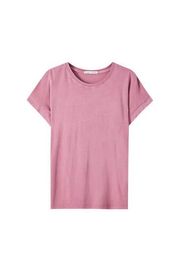 Camiseta básica algodón cuello redondo
