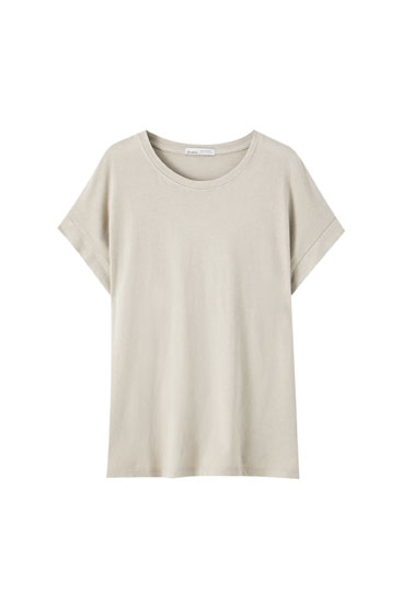 Basic short sleeve cotton T-shirt