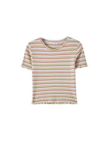 Basic-Shirt mit Muschelsaum