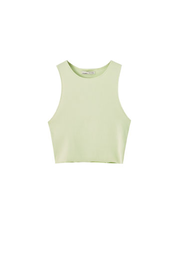 Sleeveless ribbed top