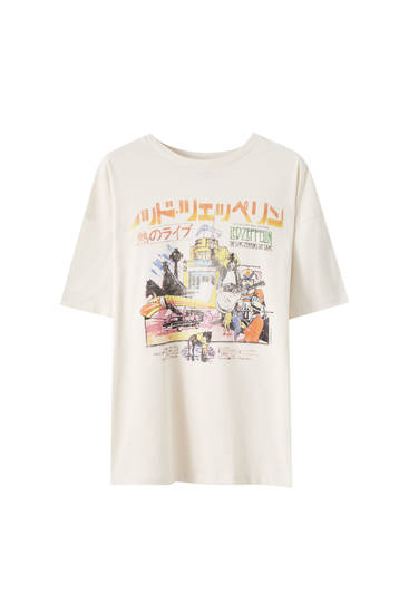 Camiseta Led Zeppelin japonesa