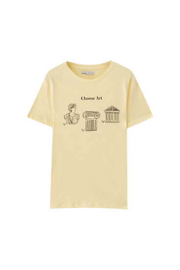 "T-shirt with ""Art Classic"" illustration"
