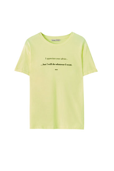 Basic T-shirt with illustration and slogan