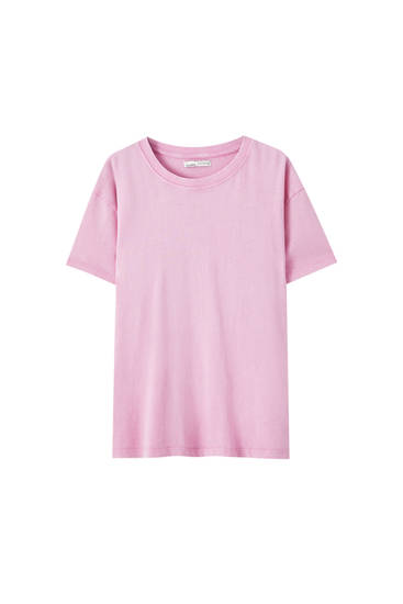 Camiseta básica oversize delavada