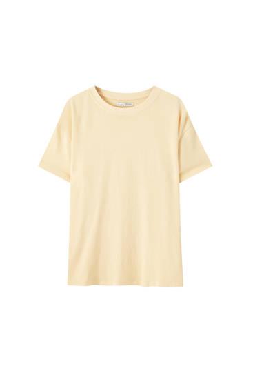 Базова футболка оверсайз із вареним ефектом