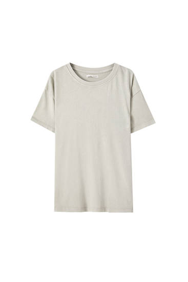 Basic faded oversized T-shirt
