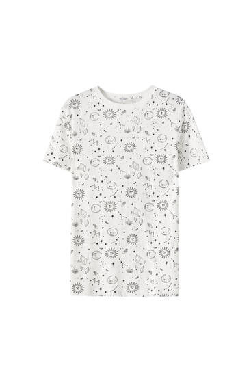 Basic moon and star T-shirt