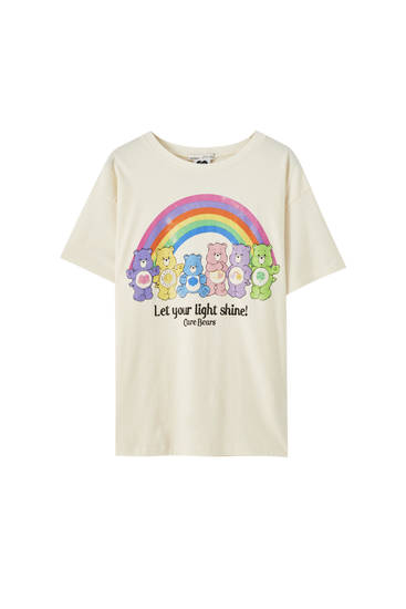 T-shirt Care Bears arc-en-ciel