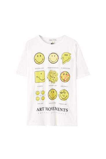 Camiseta Smiley effects of art