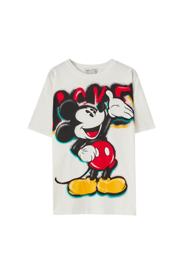 Camiseta Mickey Mouse graffiti