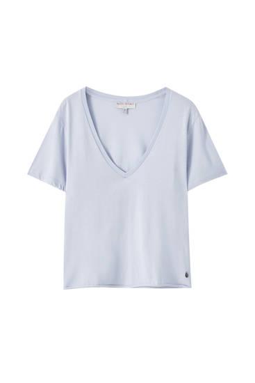 Basic-Shirt in Hellblau