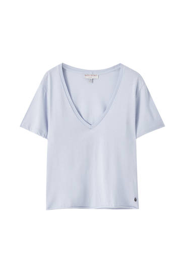 Basic-Shirt in Hellblau