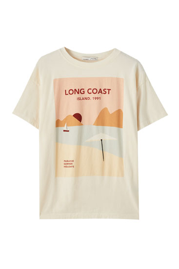 T-shirt illustration paysage « Sunset »