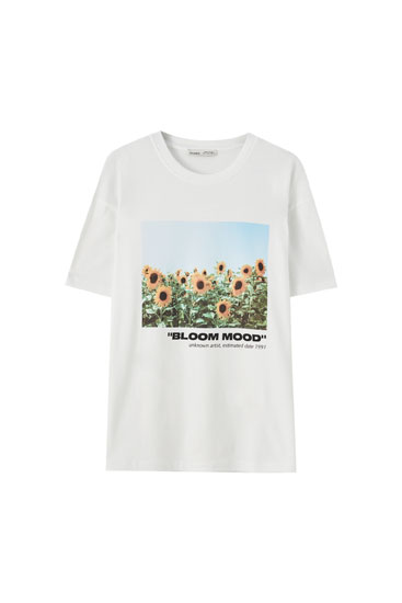T-shirt fleurs « Bloom field »