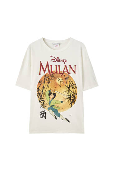 White Mulan T-shirt with circle design