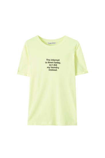 T-shirt couleurs inscription contrastante