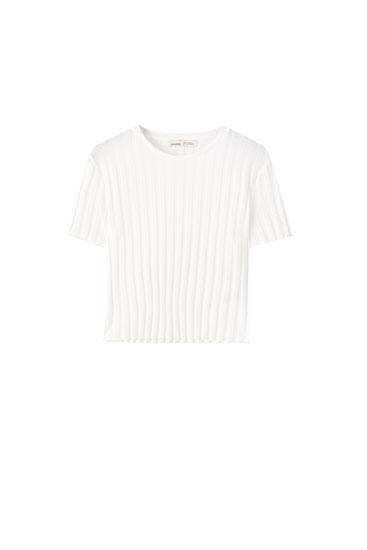 Camiseta básica canalé ancho