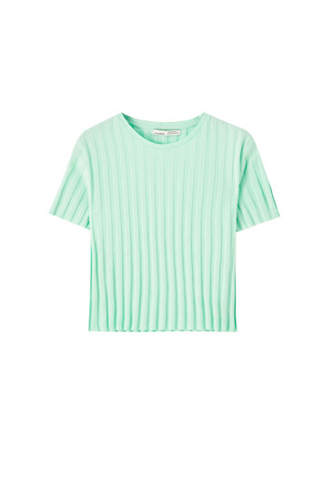 Maglietta basic canneté ampio