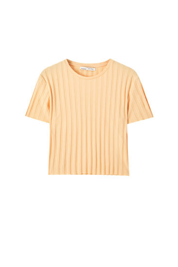 Basic wide ribbed T-shirt