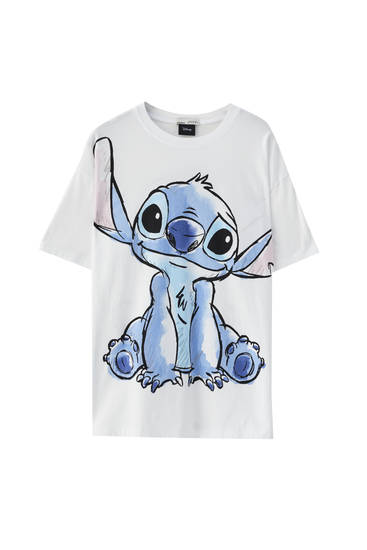 "T-shirt with large ""Stitch"" illustration"
