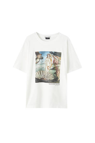 "White ""The Birth of Venus"" T-shirt"