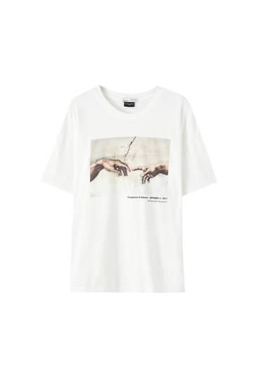 T-shirt illustration «La création d'Adam»