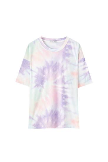 Multicoloured tie-dye T-shirt