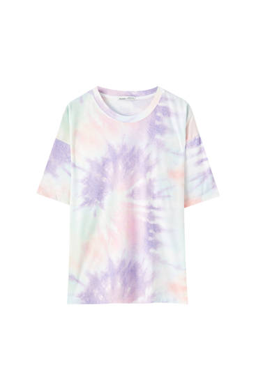 Multicoloured tie-dye T-shirt