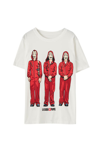 Money Heist x Pull&Bear design T-shirt