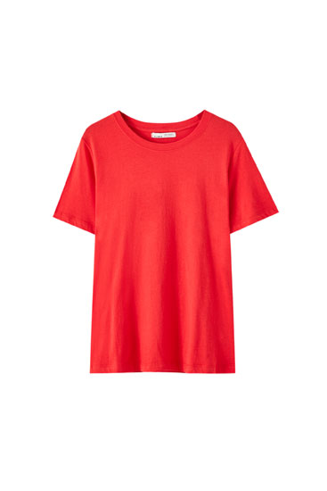T-shirt com decote redondo básica