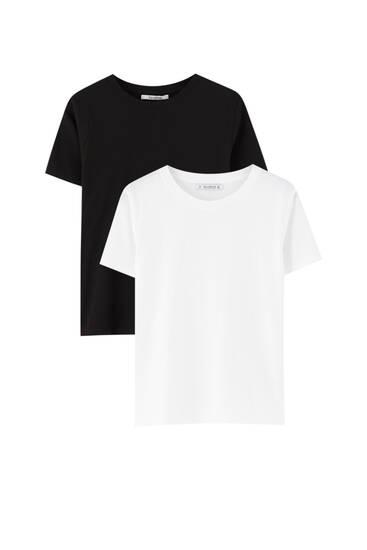 Paquet de dues samarretes bàsiques de cotó