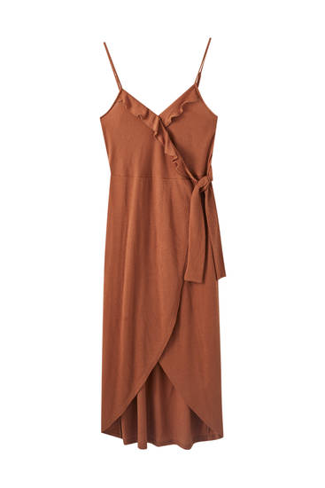 Strappy dress with side tie detail