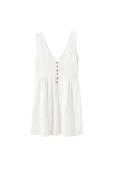 Fließendes Kleid mit Spitze