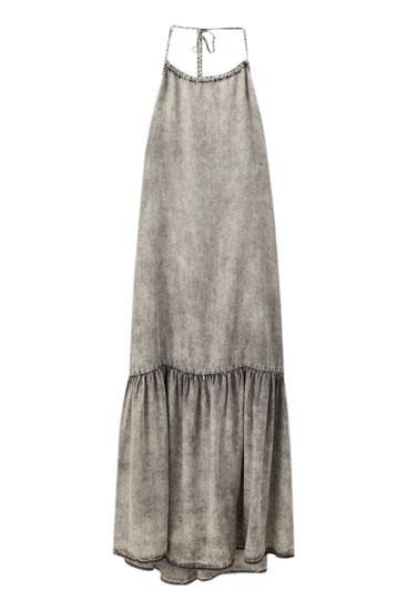 Multiway strappy denim dress