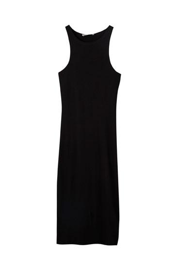 Αμάνικο μίντι φόρεμα