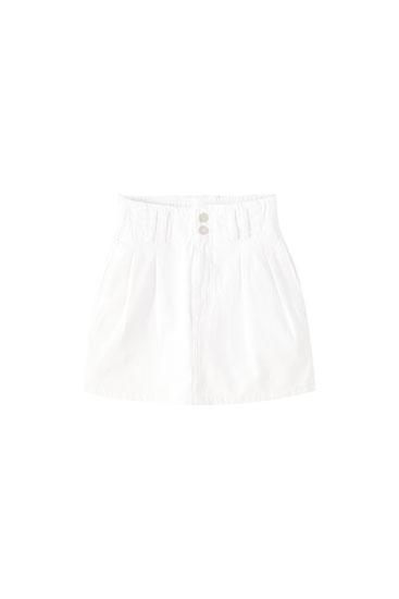 Minifalda vaquera paperbag goma cintura