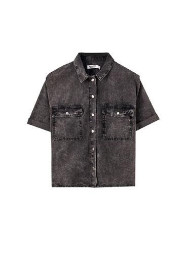 Grey bleached shirt