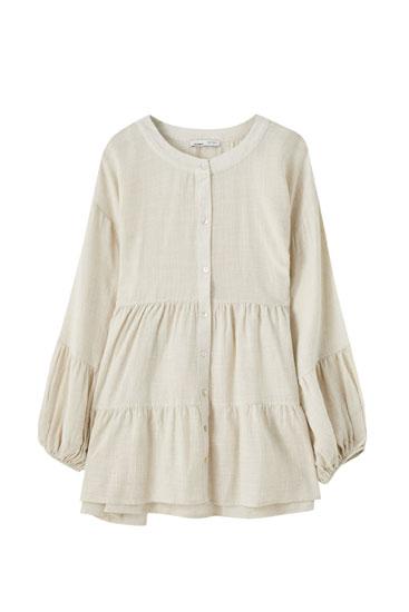 Robe chemise lin