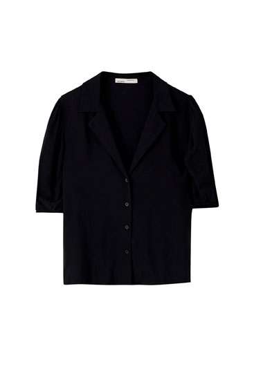 Basic voluminous sleeve shirt